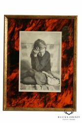 Jack Bookbinder Pencil Signed Lithograph Of Seated Girl