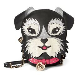 Betsey Johnson Fritzy Kitsch Puppy Dog Crossbody Bag $40.00