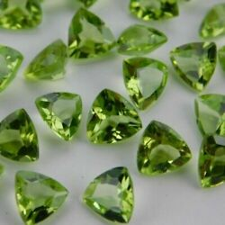 7mm To 10mm Trillion Faceted Cut - Natural Peridot Loose Gemstone -peridot