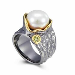 Women Pearl Rings Creative-wedding-engagement Gothic Jewelry Black Gold