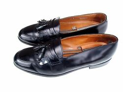 Bostonian 11n Black Tassel Leather Dress Style Loafers Made In Usa Shoes