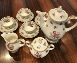 Reichenbach Demitas Coffee Set Former East German Famous Kiln Rare Collection