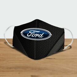FAST CAR FORD Cotton Face Mask for Cycling 2020 Mouth Cover Face Mask 3D USA $13.99