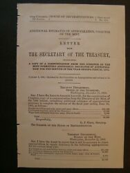 Government Report 1901 Additional Estimates Of Appropriation Direct Of The Mint