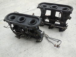 Porsche 911 Mfi Throttle Bodies With Intake Pipes And Fuel Lines