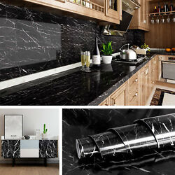 9.9ft Marble Contact Paper Self Adhesive Peel And Stick Pvc Wallpaper Kitchen Film