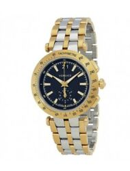 Versace Men's 'v-race' Swiss Quartz Stainless Steel Casual Watch, Colortwo Tone