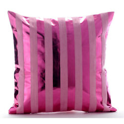 Couch Pillowcase Decorative 12x12 Hot Pink Faux Leather Fabric - Born 2 Party
