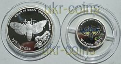 2006 Transnistria Silver Color Proof Coin Set Butterfly Wwf Wildlife Fauna Rare