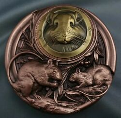 2020 China Copper And Gold Plated Brass With Enamel Medals - Lunar Year Of Rat