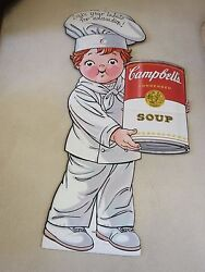 5ft Campbell's Soup Labels For Education Kid Cardboard Store Advertising Display