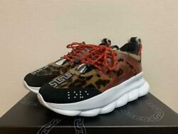 New Versace Chain Reaction Sneakers Size 43 Us Inch 9.5 Collection Rare