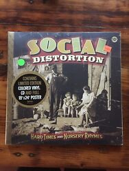 Social Distortion - Hard Times And Nursery Rhymes 2lp Signed Poster 1st Press