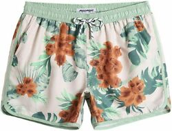 Maamgic Mens 5 Short 70s 80s 90s Vintage Swim Trunks Quick Dry Bathing Suits Sw