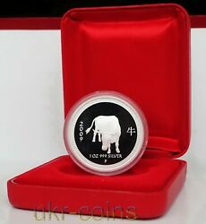 2009 Australia Year Of The Ox 1 Oz Silver Proof Coin 1 Perth Lunar I Series