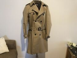Saint Laurent Doubles Breasted Gabardine Trench Coat Size Fr 42 Rrp Aud 4200