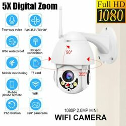 5x Zoom 1080p 360° Ptz Speed Dome Cctv Outdoor Security Ip Camera Night Vision