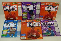 6 Vintage Tiger Woods Golf Wheaties Cereal Boxes Opened Pga 1999 Sports Champion