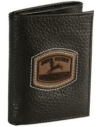 John Deere Tri-Fold Leather Wallet Black $35.94