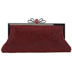 Bow Clutch Purse Soft Crystal Evening Bags And Clutches Red Handbags $40.98