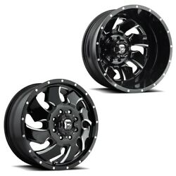 20x8.25 D574 Fuel Cleaver 05-up Ford 19-up Dodge Dually Wheels 8x200 Set Of 6