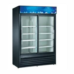 Falcon Food Service 42.5 Cu.ft. Two Sliding Glass Door Refrigerated Merchandiser