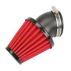 Red 45 Degree Bend Universal Car Motorcycle Racing 35mm Cold Air Intake Filter