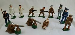 Manoil Barclay Toy Soldier 12 Lead Army Marine Military Figures