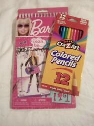 Barbie I Can Be Sketch Portfolio And Pack Of Colored Pencils New