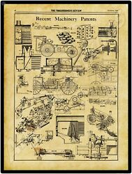 1910 Thresherman Review New Metal Sign Farm Machinery Patents Applied For