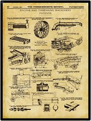1900 Thresherman Review New Metal Sign Farm Machinery Patents Applied For