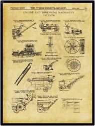 1911 Thresherman's Review New Metal Sign Farm Machinery Patents Applied For