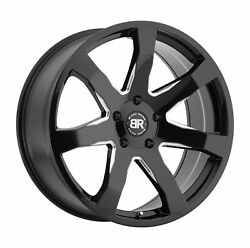 20x8.5 Black Rhino Mozambique Gloss Black And Milled Wheels 5x5 30mm Set Of 4