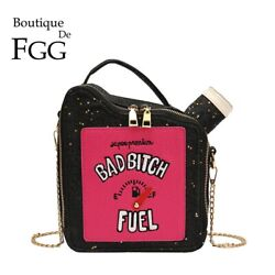 Gasoline Fuel Petrol Women Faux Leather Shoulder Bags Crossbody Purses Handbags $18.99