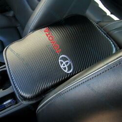 X1 For New Toyota Carbon Fiber Car Center Console Armrest Cushion Mat Pad Cover