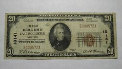 20 1929 East Rochester New York Ny National Currency Bank Note Bill 10141 Rare