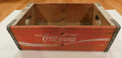 Lot Of 2 Vintage Coca-cola Wooden Crates  Red