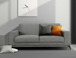 Contemporary Hand Crafted Upholstered Living Room Furniture Carlo Loveseat