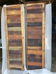 Two Authentic Reclaimed 24 Natural Wood Barn Doors 48 Total - Horizontal -