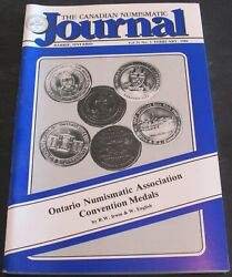 The Canadian Numismatic Journal Nobel Prize Medals Wooden Tokens +++