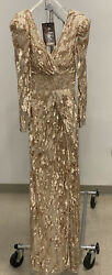 Mac Duggal Gold Evening Gown Size 4 originally Approx $550.00 $250.00