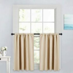 Pony Dance Kitchen Curtains 36 - Tiers Valances Blackout Window Drapes Thermal I