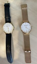 Abbott Lyon Rose Watch And Black And Gold Watch. Sold As A Pair Or Individually