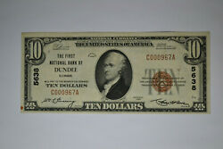 Dundee, Il - 10 1929 Ty. 1 The First National Bank Ch. 5638 Extremely Fine.