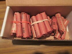 1960and039s1970and039s1980and039s Lincoln Penny Rolls Circ. Au Uc 25 Rolls Mixed Lot