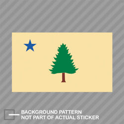 Vintage Maine State Flag Sticker Decal Vinyl tree and blue star