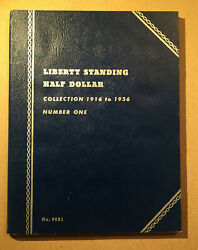 Whitman Liberty Standing Half Dollar Collection 1916-1936 Number 1 No.9021 Album