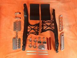 Harley One Touch Chrome Latch Saddlebag Lids Hardware Cover Kit For 2014-2015