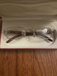 Vintage Cartier 140b Sunglasses Giverny w VVS Diamonds
