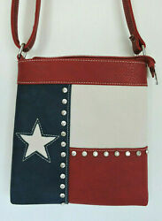 Red Lone Star Texas Pride Concealed Gun Carry Messenger Bag